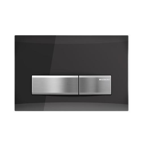 Geberit Smoked Reflective Glass Wall Button