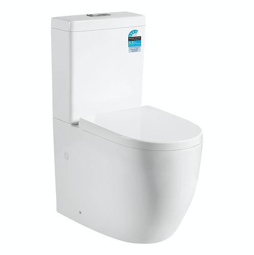 White Box Rim Wall Faced Toilet Suite
