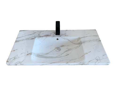 Carrara Infinity Vanity Top 900mm