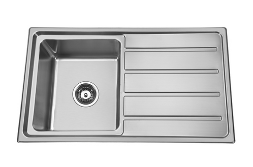 Stainless Steel Single Bowl Pressed Sink 860x500x180mm