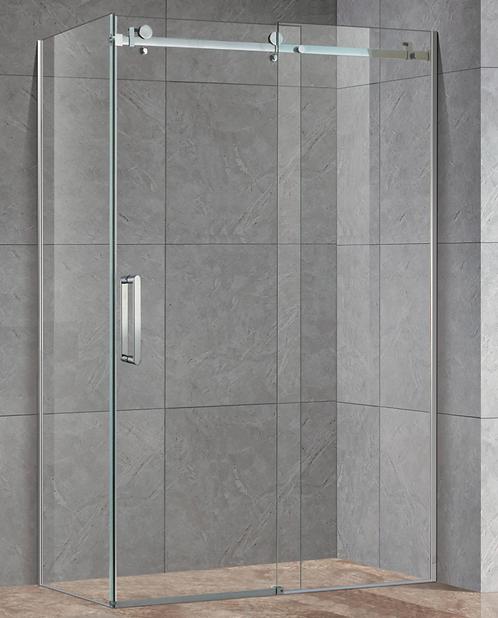 Frameless Corner Shower Screen w/ Sliding Door
