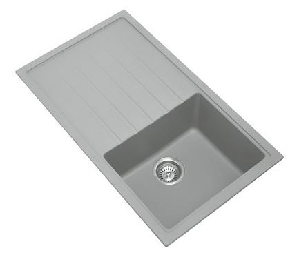 Carysil Granite Kitchen Sink w/ Drainer 860x500mm