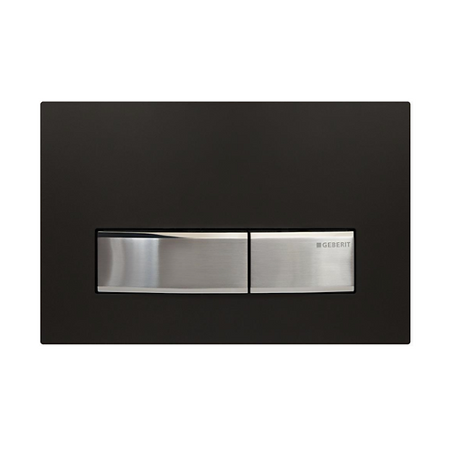 Geberit Black/Chrome Glass Wall Button