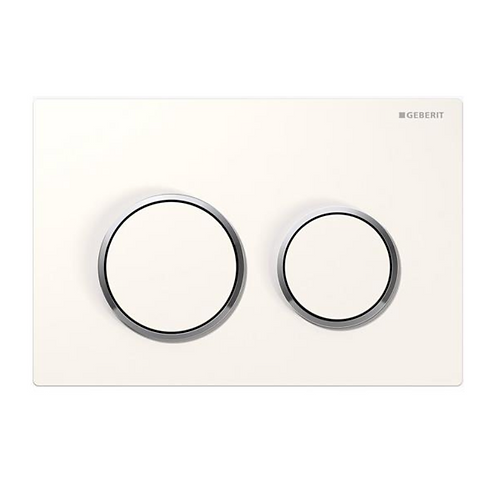 Geberit White/Chrome Round Wall Button