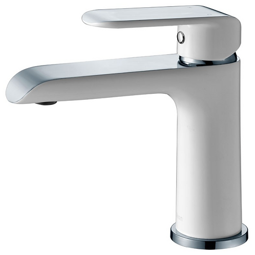Ikon Chrome/White Basin Mixer