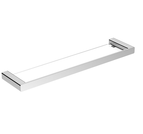 Chrome Rectangular Glass Shelf