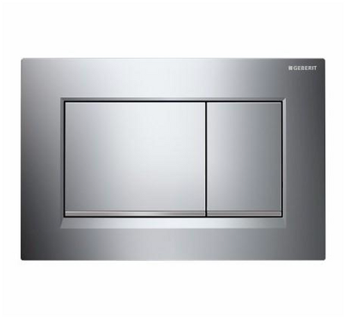 Geberit Grey Rectangle Wall Button