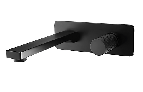 The Gabe Wall Spout Mixer - Matte Black