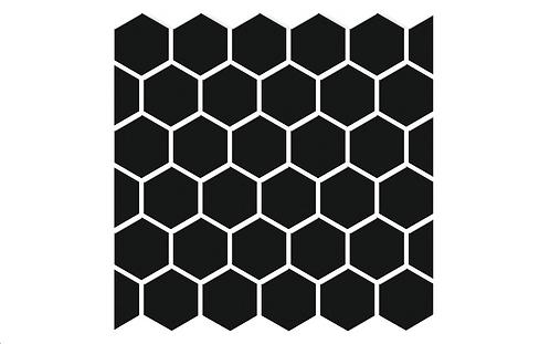 Hexagon Black Porcelain Mosaic