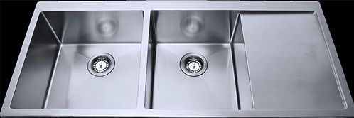 Stainless Steel Under/Over Mount Double Sink 1140x440x230mm