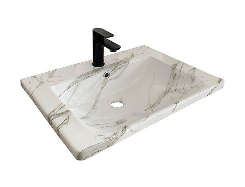 Carrara Infinity Vanity Top 600mm