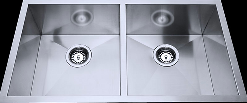Stainless Steel Under/Over Mount Double Sink 760x440x230mm