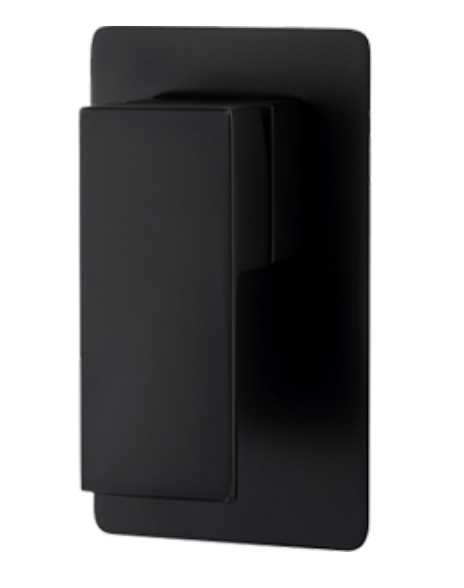 Matte Black Square Shower Wall Mixer