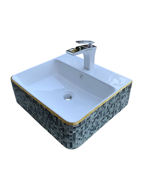 Rectangular Art Wall Mounted Basin