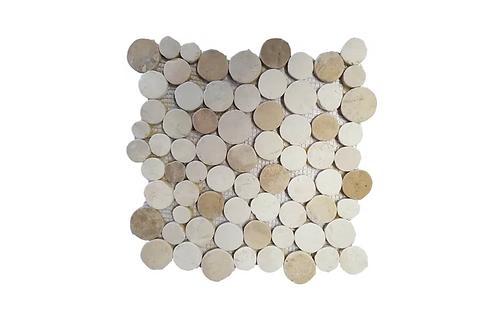 Botany Cream/Yellow Coin Mosaic