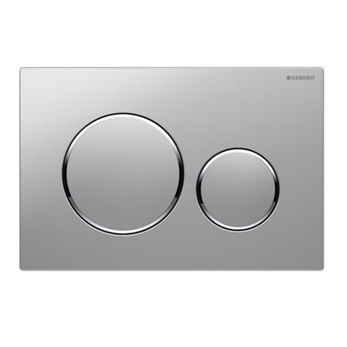 Geberit Grey/Chrome Round Wall Button