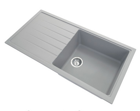 Carysil Granite Single Bowl Kitchen Sink With Drainer Board  1000x500x220mm