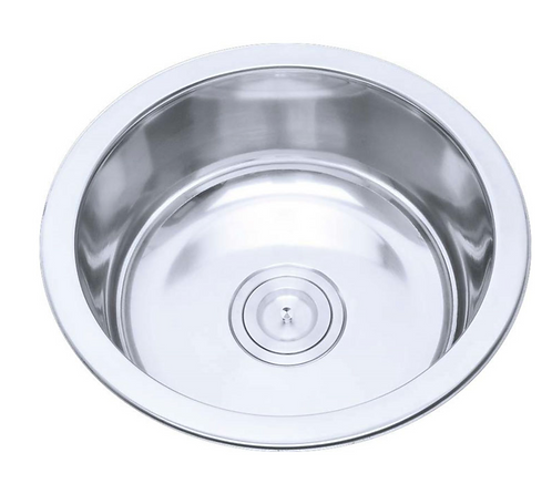 Stainless Steel Round Bowl Sink 425x425x160mm