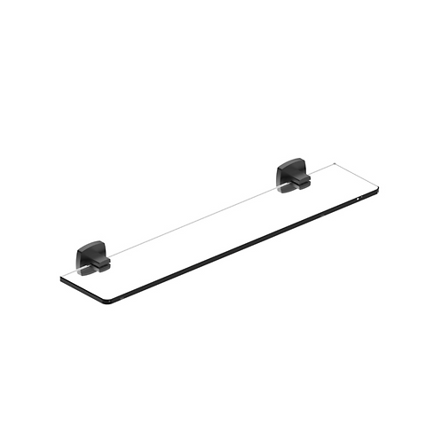 Matte Black Glass Shelf