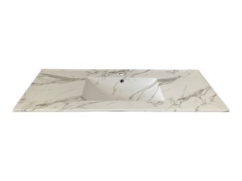 Honed Carrara Vanity Top 1200mm