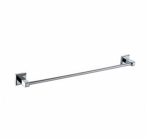 Chrome Square Single Towel Rail 800mm