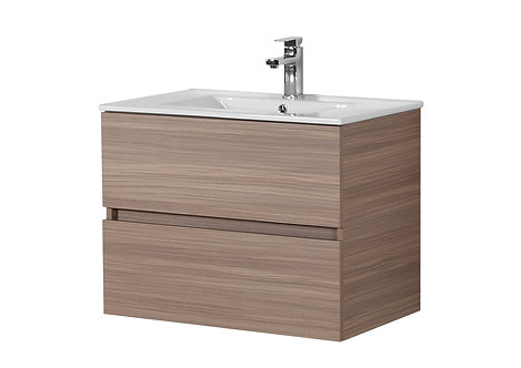 750 Oak Vanity with Ceramic Top
