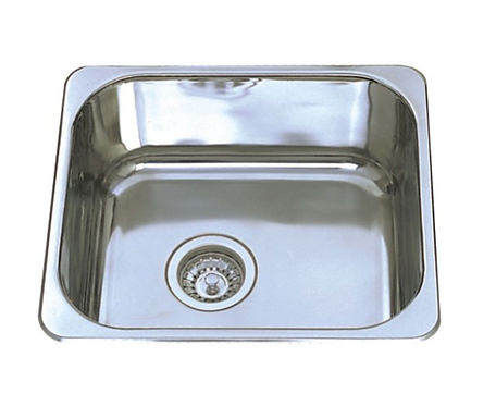 Stainless Steel Single Bowl Sink 445x395x180mm