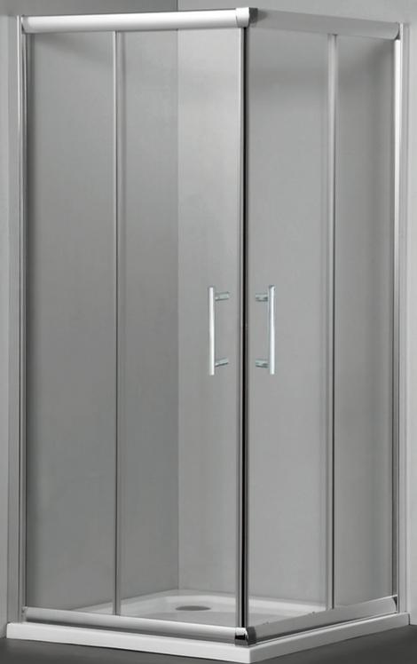 Corner Shower Screen w/ Sliding Doors