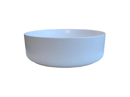 Round Art Basin with Matte White finish