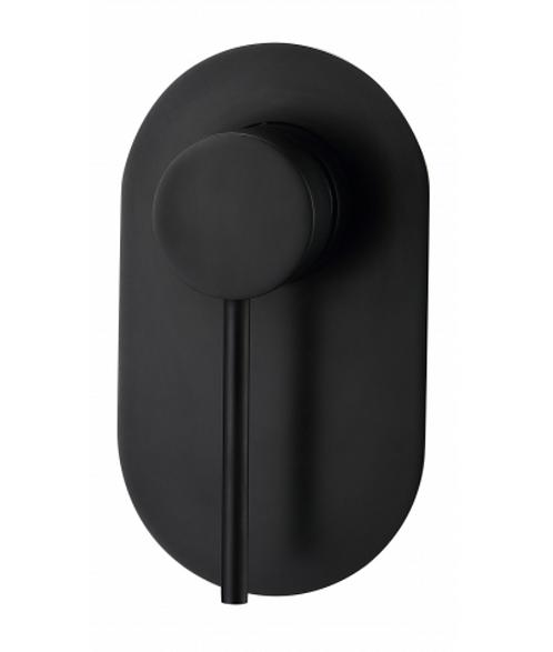 Matte Black Round Wall Shower Mixer