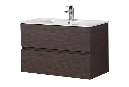 900 Walnut Vanity with Ceramic Top