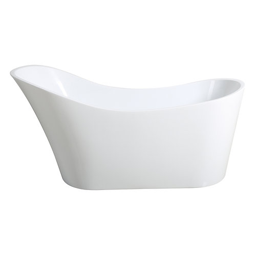 White High Back Bathtub 1700mm