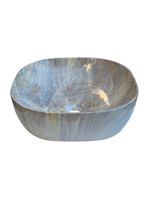 Square Basin With Marble Effect