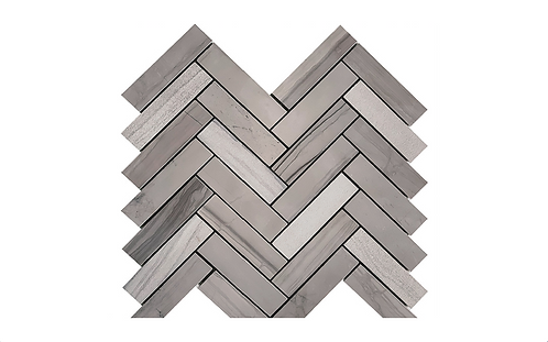 Athens Grey Herringbone Mosaic