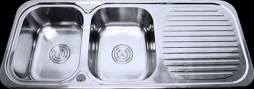Stainless Steel Double Bowl Sink 1180x480x170mm