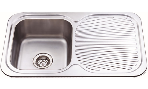 Stainless Steel Single Bowl Pressed Sink 780x480x170mm