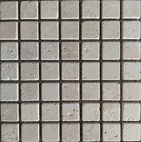 Travertine 25x25 Tumbled Mosaic