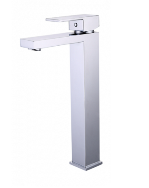 Chrome Square Tower Basin Mixer