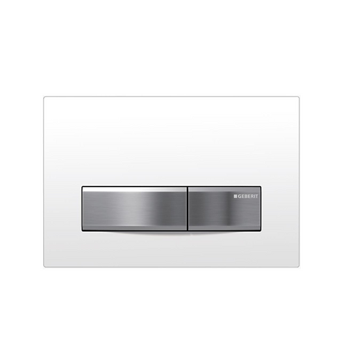 Geberit White/Chrome Glass Wall Button