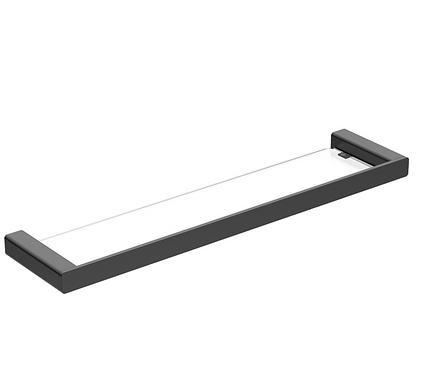 Matte Black Rectangular Glass Shelf