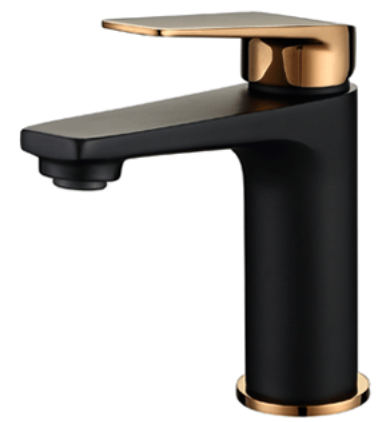 Black/Rose Gold Basin Mixer