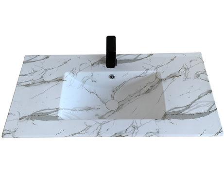 Honed Carrara Vanity Top 900mm