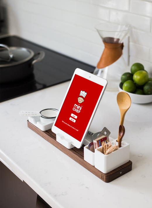 Concept - App being used in the kitchen