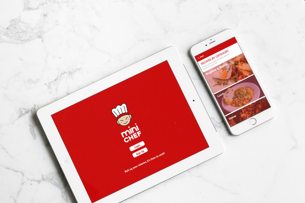iPad & iPhone - Launch Screen and Recipes Screen