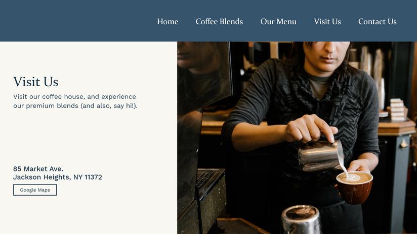 Website Concept - Visit Us