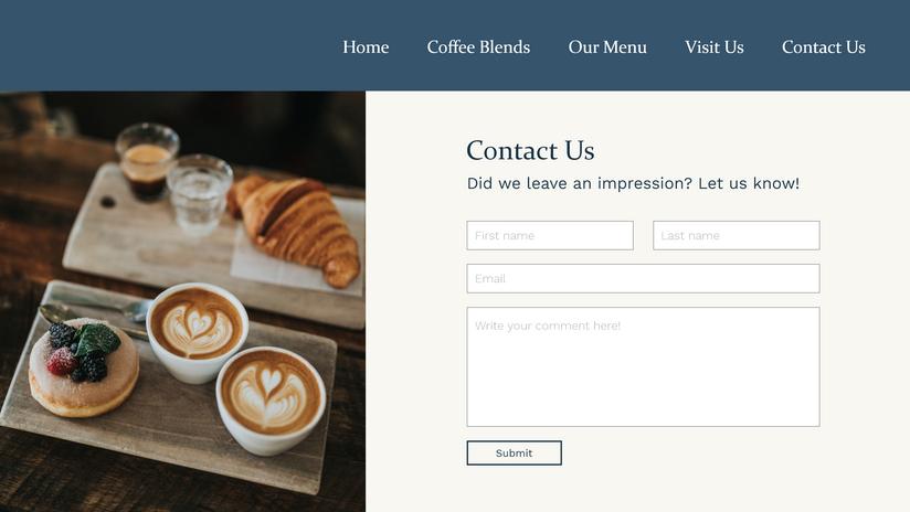Website Concept - Contact Us