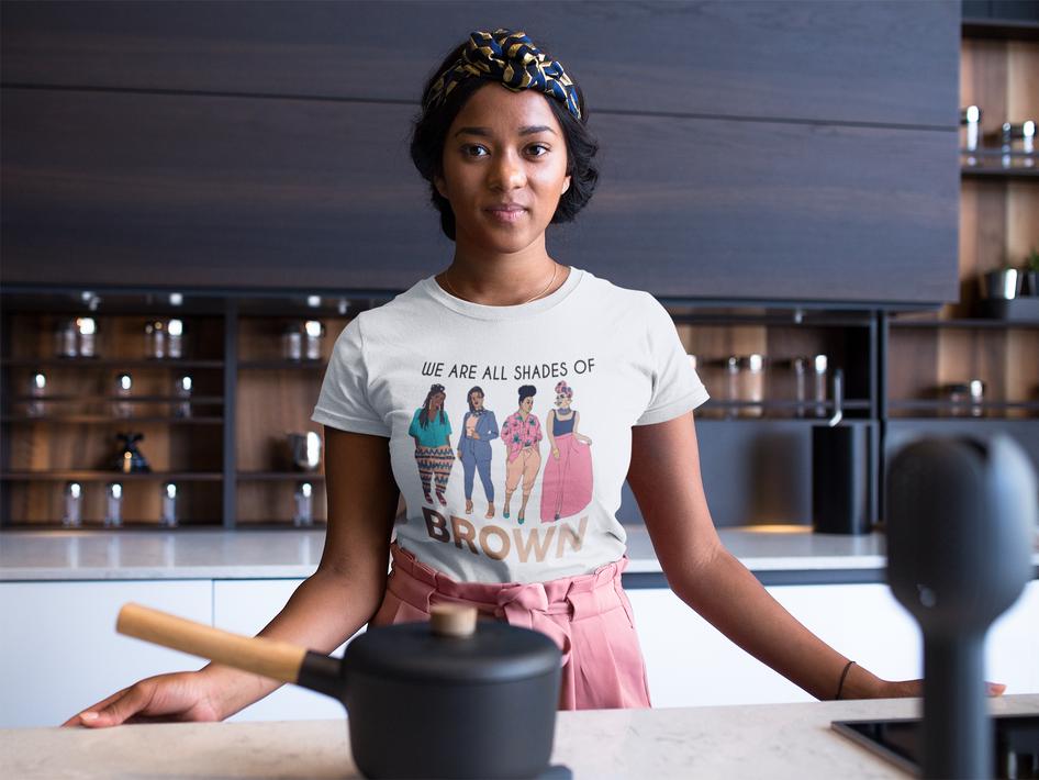 Wearing T-Shirt In Kitchen