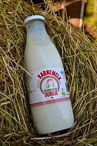 Ambachtelijke karnemelk van melk van De Nije Mieden, gemaakt door Zuivelmakerij Buurvrouw Durkje