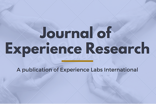 Sponsorship of Annual Publication of Journal of Experience Research