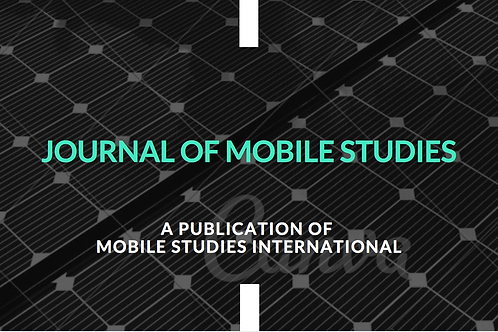 Sponsorship of Annual Publication of Journal of Mobile Studies